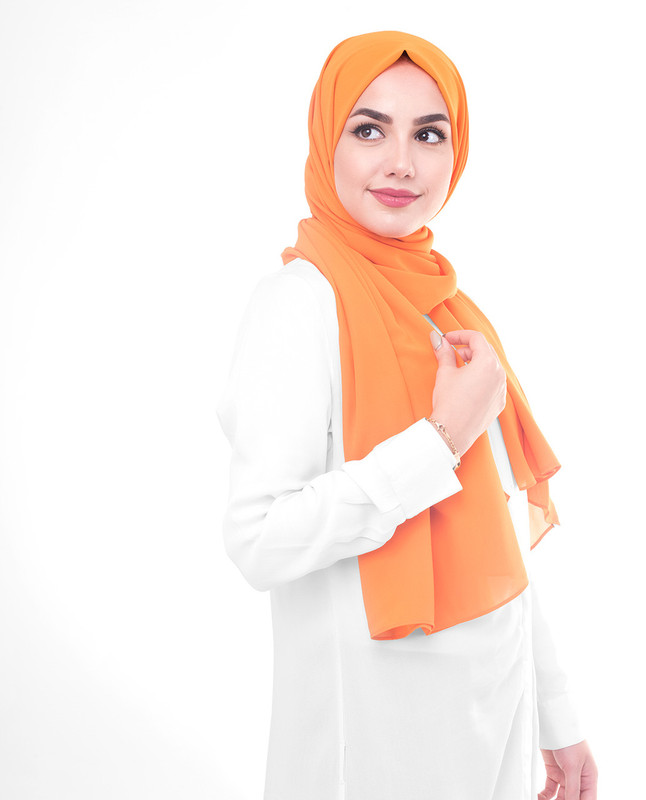 Hijab warna orange scarf