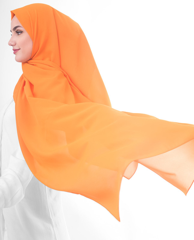 Orange scarf outfit hijab
