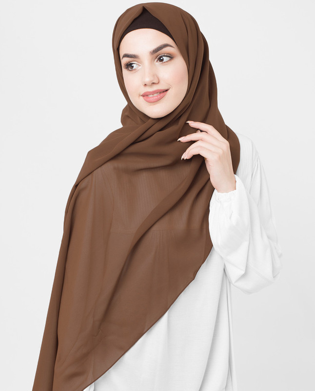 brown hijab scarf
