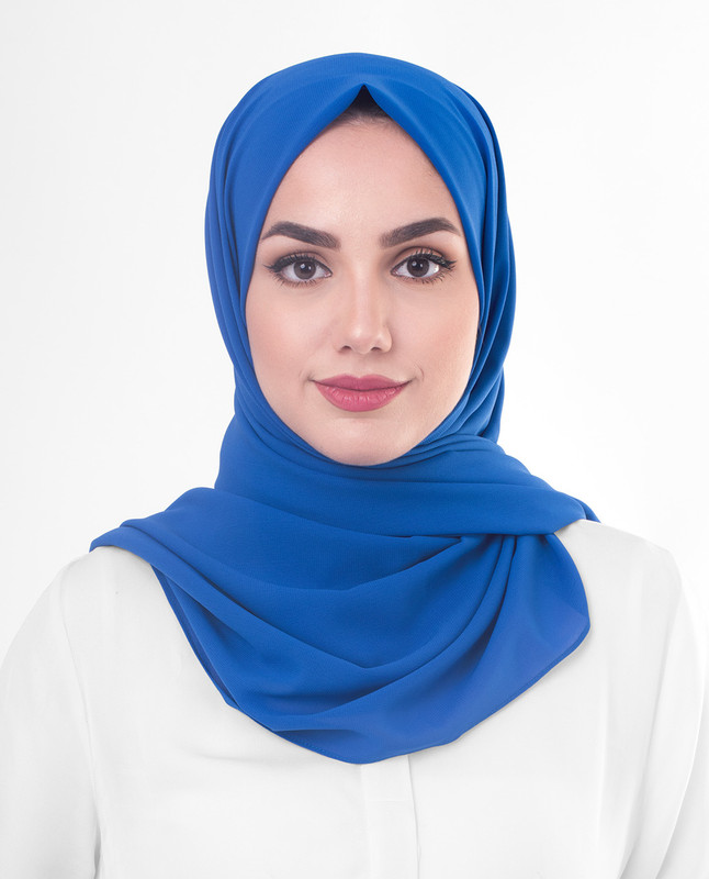 Princess Blue Poly Georgette Scarf