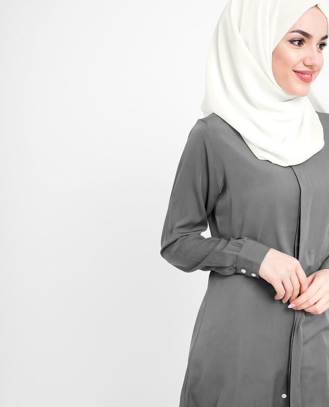 blue poly georgette hijab scarf