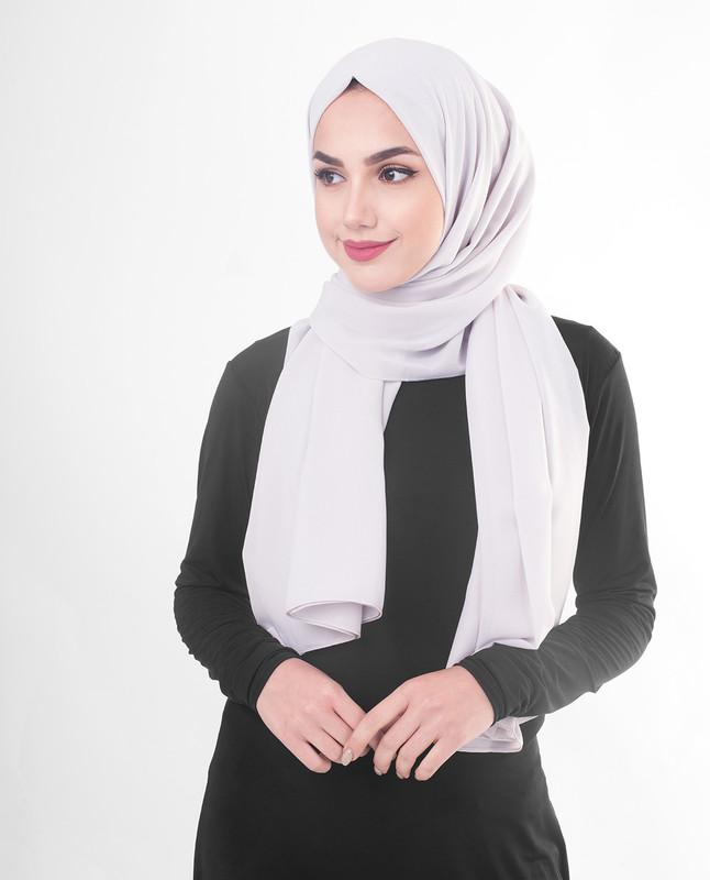 Hijab purple style scarf