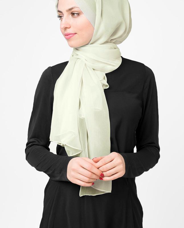 stylist green hijab scarf