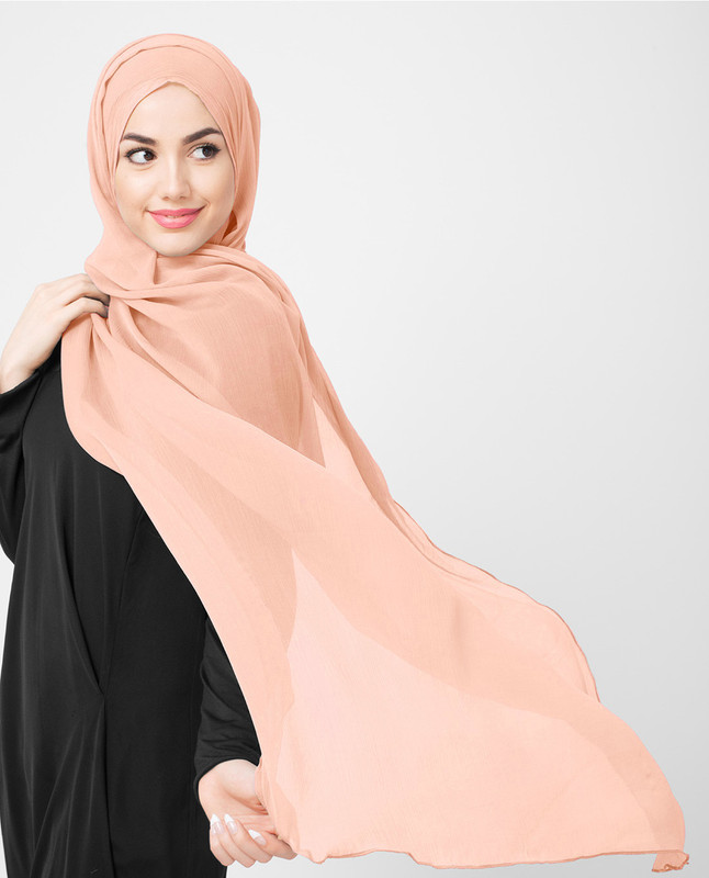 Evening Sand Poly Chiffon Scarf