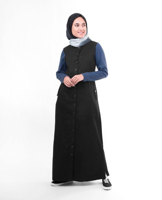 Blue black abaya jilbab