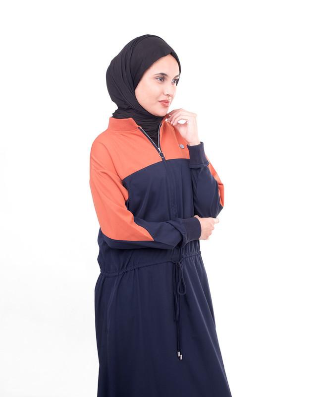 Front zipper abaya jilbab