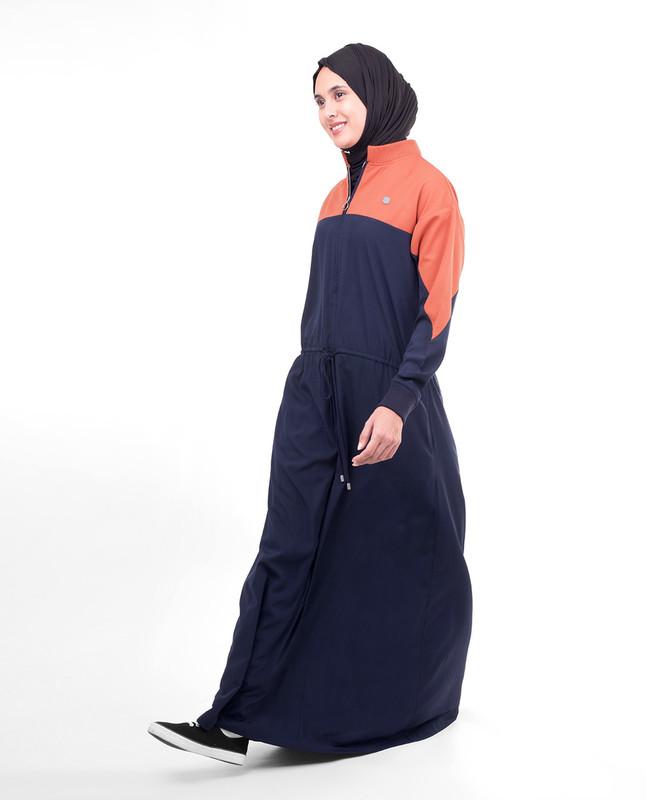 Waist tie abaya jilbab