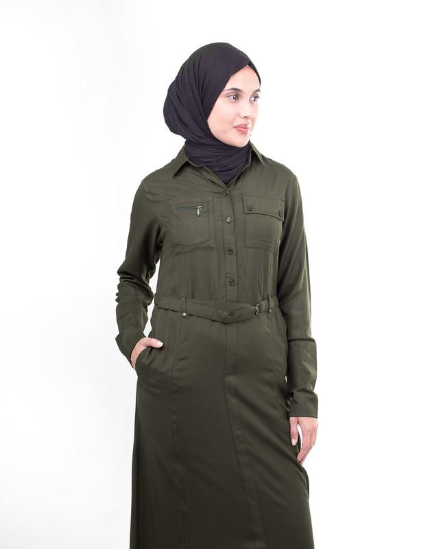 Olive green abaya jilbab