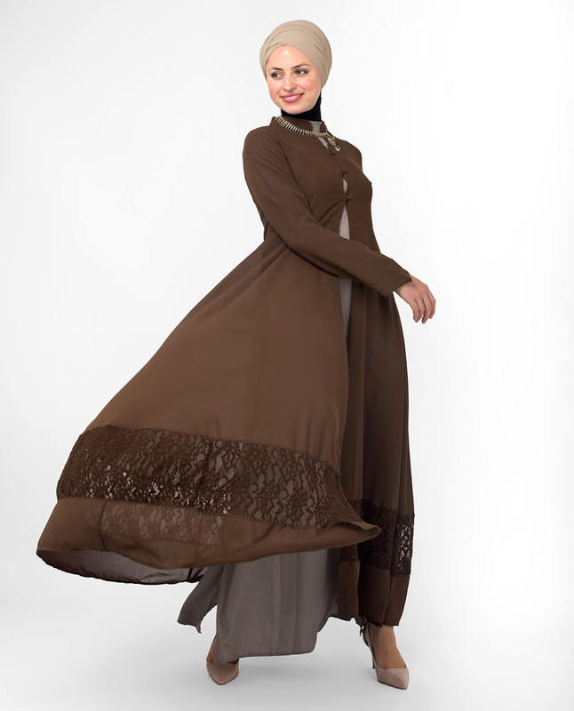 buy brown outerwear online, kimono
