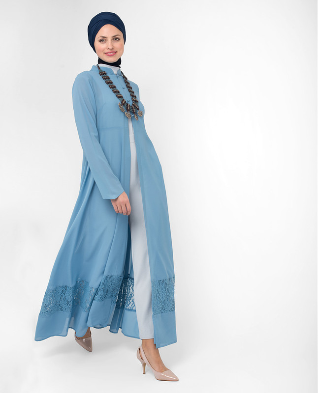 Long modest wear kimono, outerwear