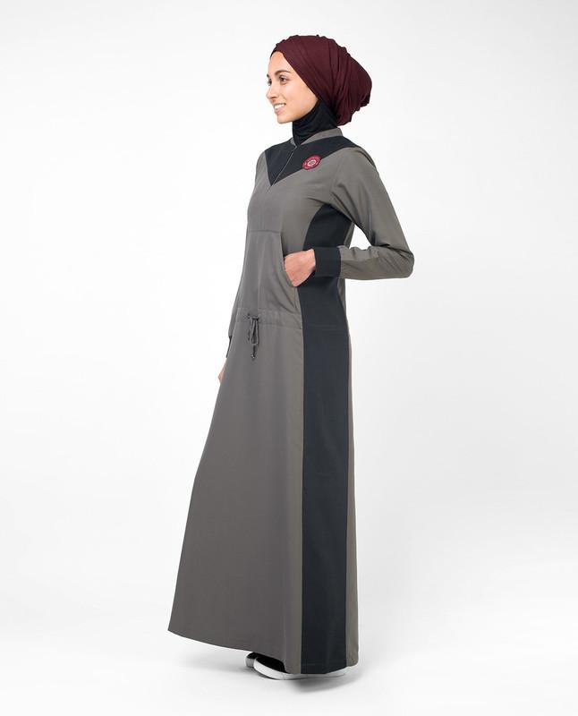 Grey & Black Casual Jilbab