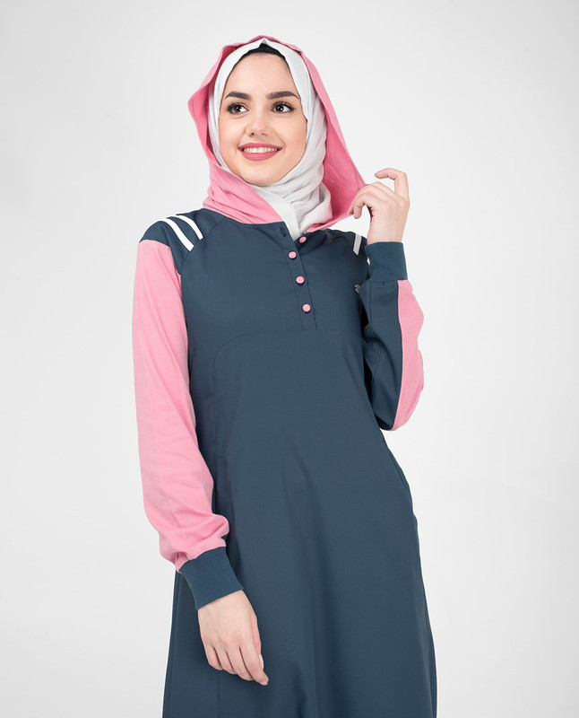 Navy Sporty Hooded Jilbab