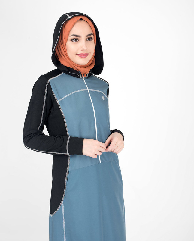 Top-Stitch Detachable Hooded Jilbab