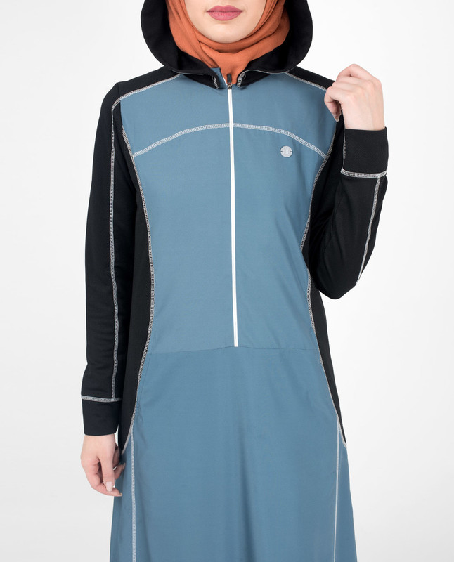Top-Stitch Detachable Hooded Jilbab