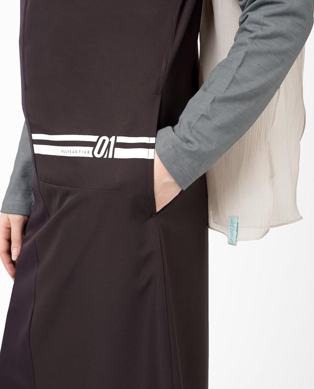 Side pockets purple abaya jilbab