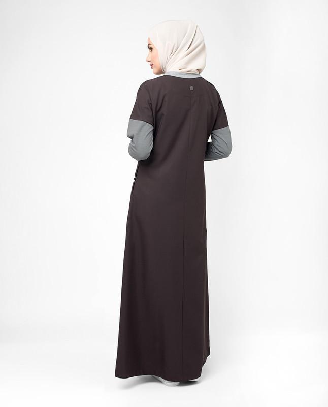 Purple color abaya jilbab