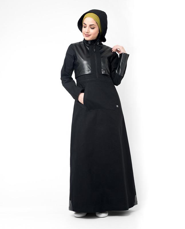 Buy Black hooded abaya jilbab