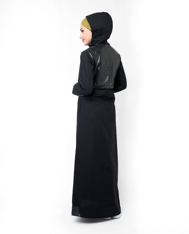 Long front zip abaya jilbab