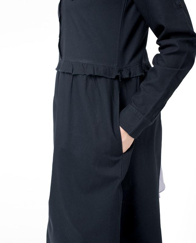 Side pockets abaya jilbab