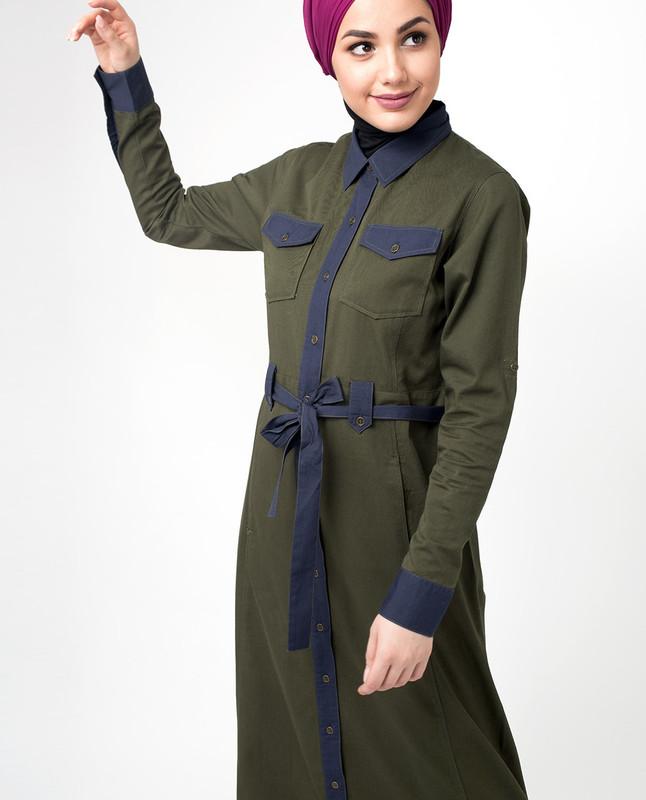 Front open abaya online