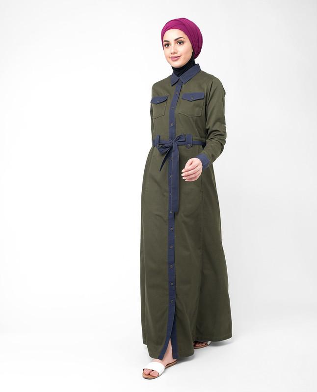 Open front abaya jilbab