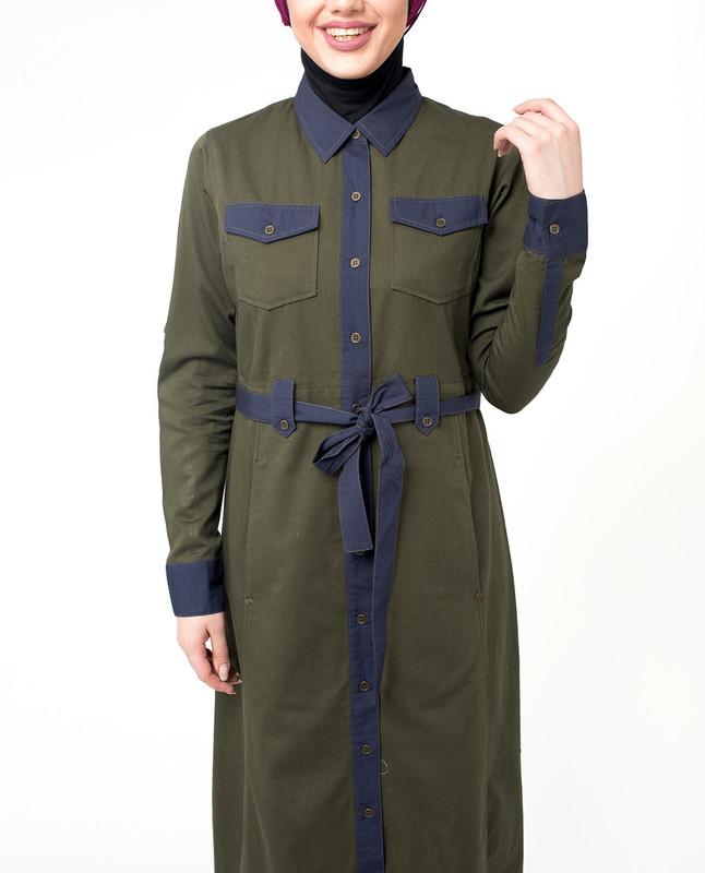 Front open abaya styles