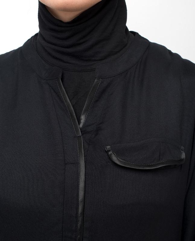 v-neck abaya jilbab