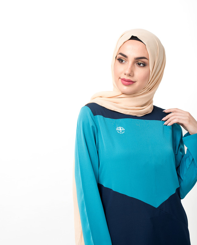 Buy blue sporty abaya jilbab