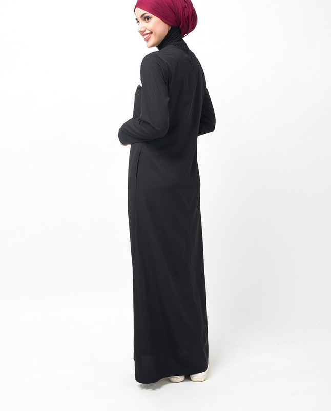 Black and White Summer Jilbab