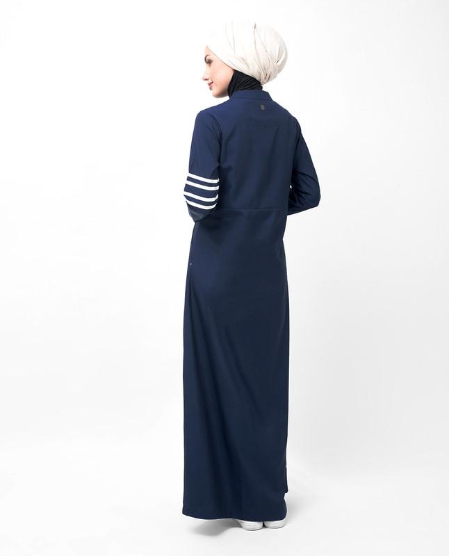 Navy Route Striper Abaya