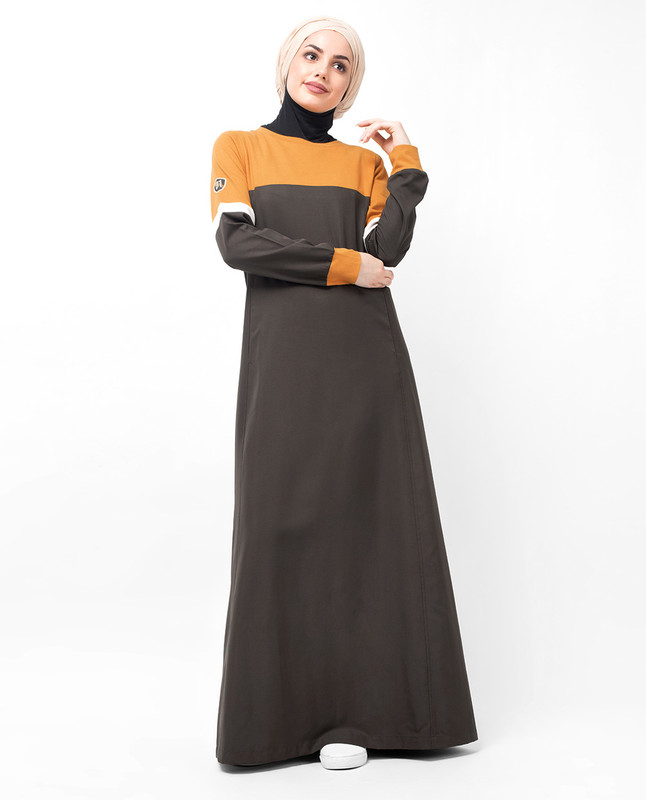 Sunflower Dropped Shoulder Abaya