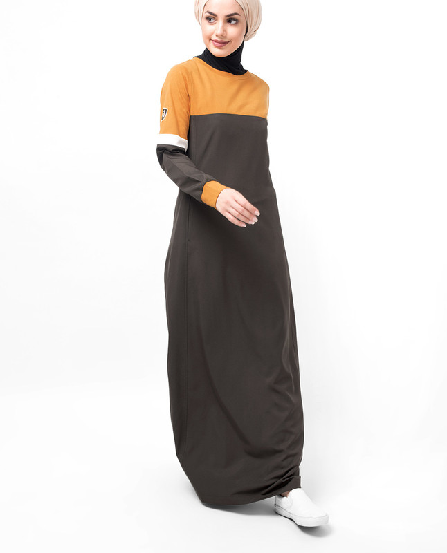 Sunflower Dropped Shoulder Abaya