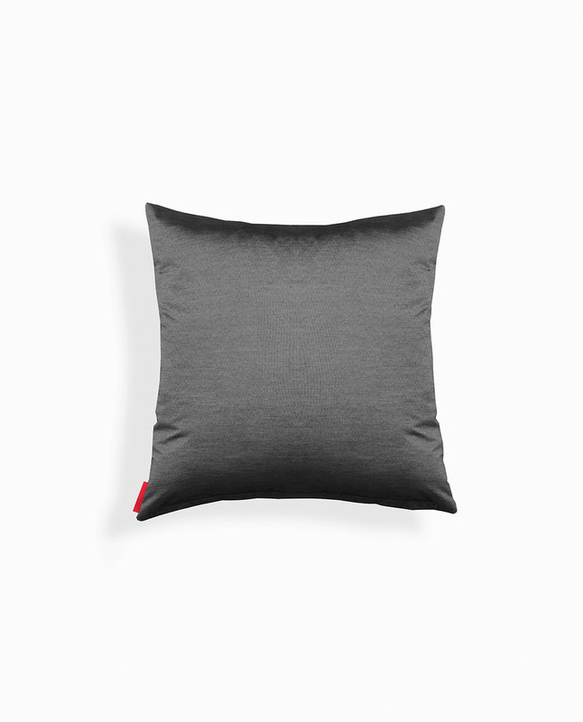 'Light' Arabic Calligraphy Cushion Cover - Black / Silver