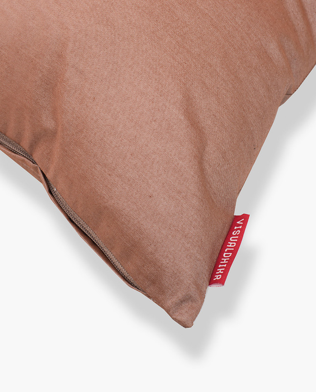 Lantern Embroidery Cushion Cover - Mocha / Black