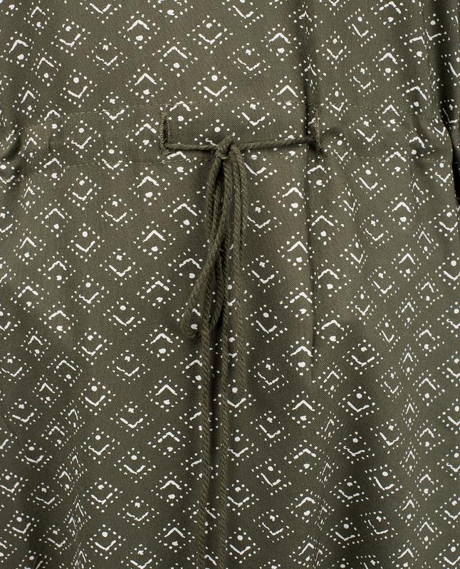 Green Tassel Tie-up Midi Dress
