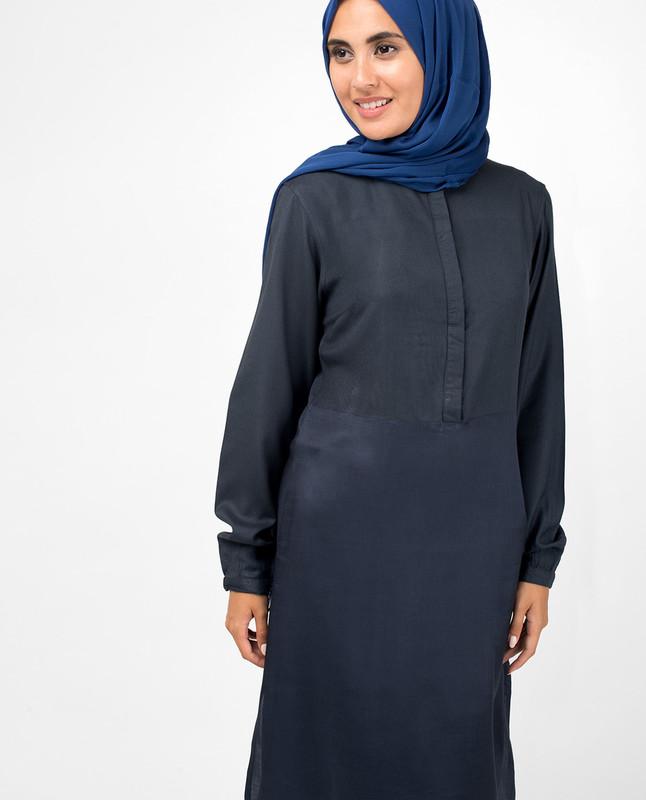 Navy Smart Midi Dress