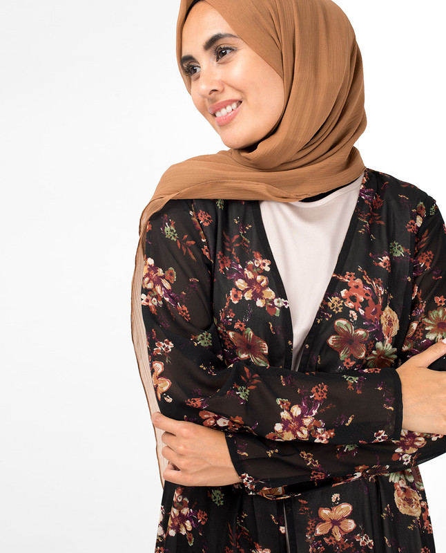 Black & Red Floral Outerwear