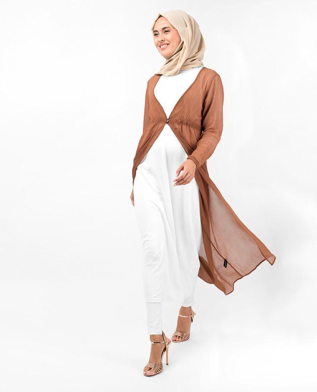 Sierra Brown Loop Button Outerwear