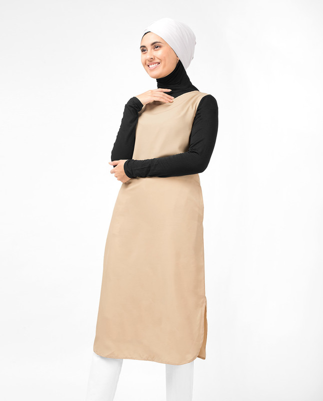 Beige Slip Dress
