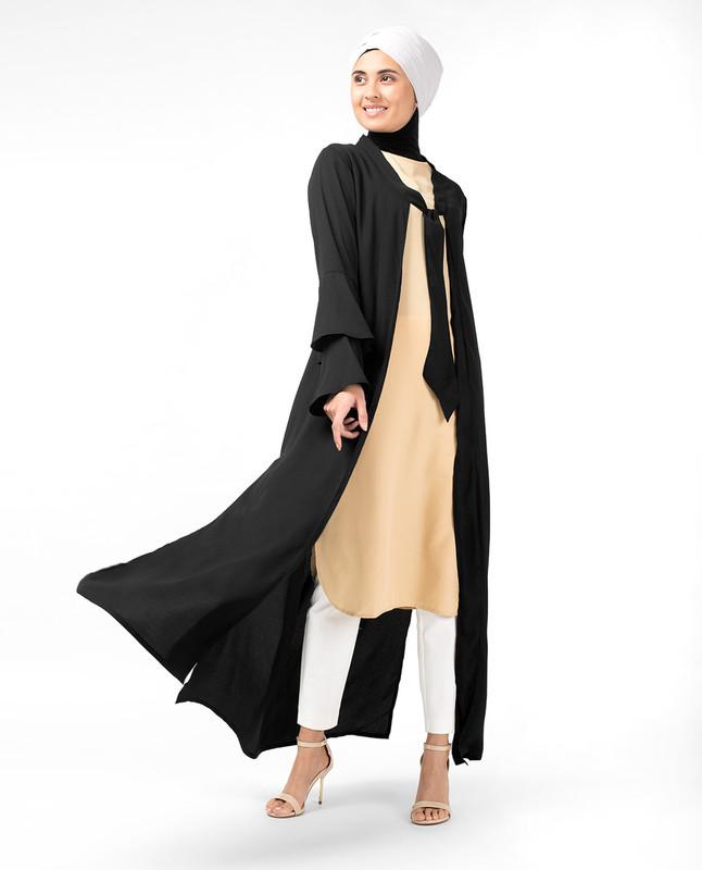 Layered Bell Sleeve Kimono