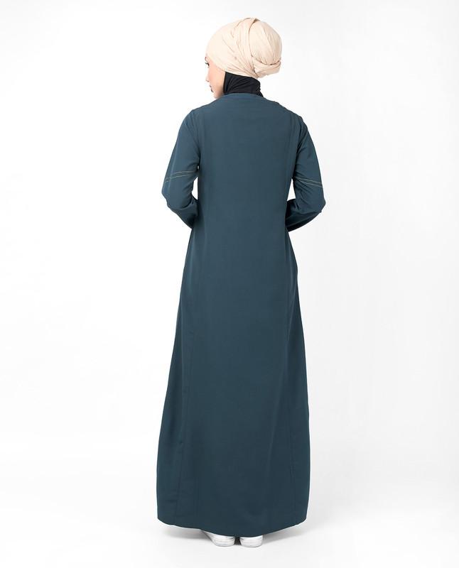 Blue Steel Top Stitch Jilbab