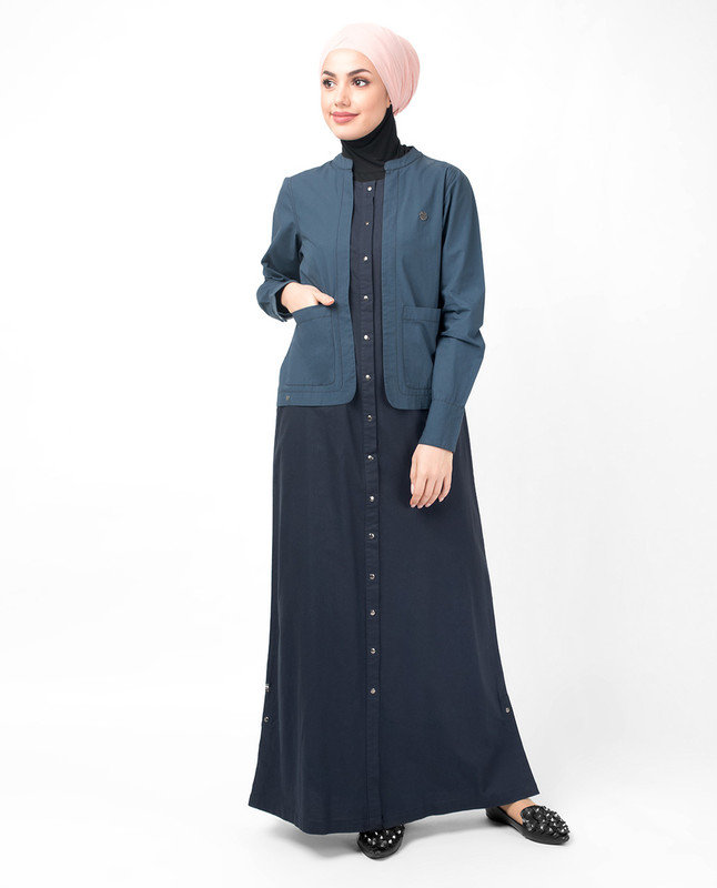 Oxford Vintage Blue Jilbab