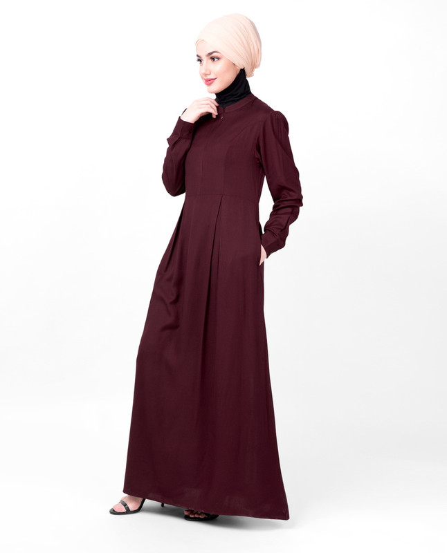 Cherry Double Pleat Maxi Abaya
