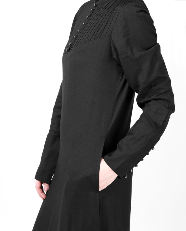 Flared Fit Black Abaya