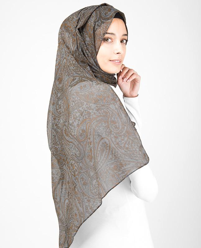 Vintage Paisley Print Hijab