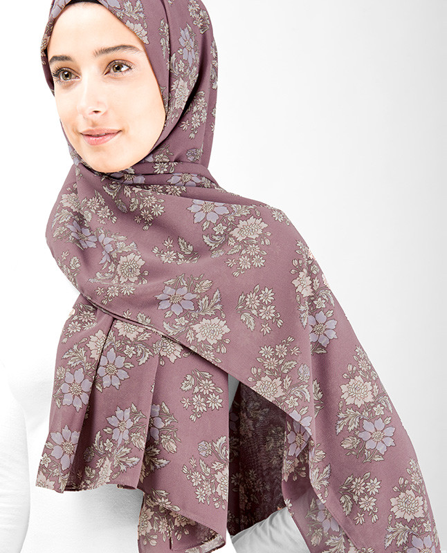 Winter Rose Floral Hijab