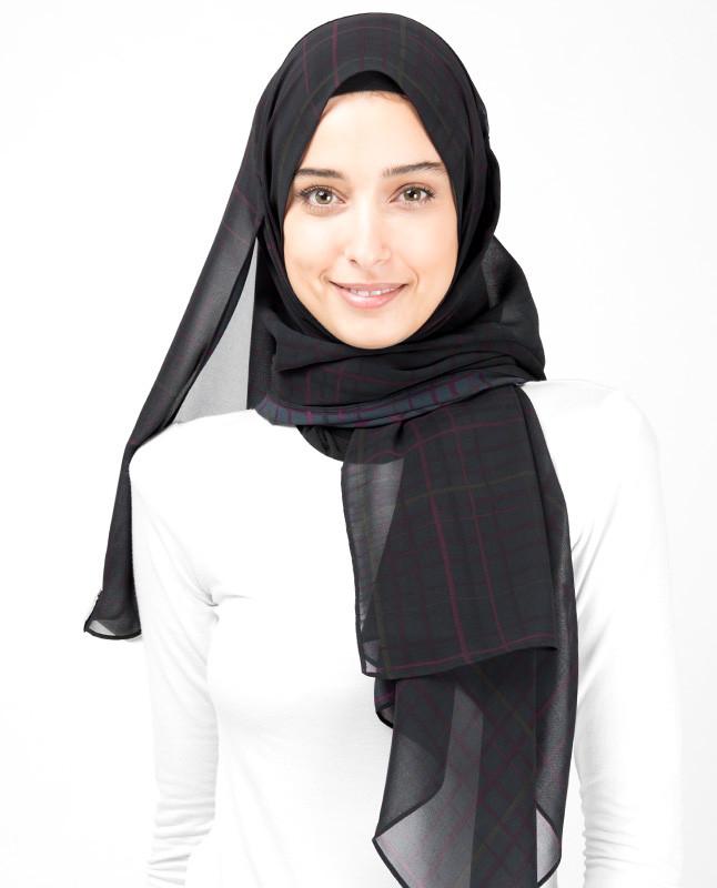 Teal Plaid Hijab