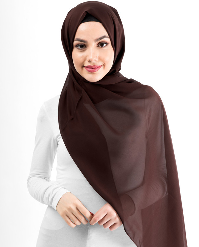 New Cocoa Silky Poly Georgette Hijab