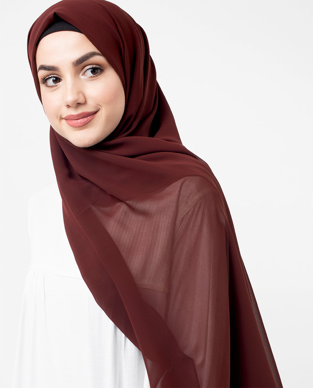 Raisin Poly Georgette Scarf