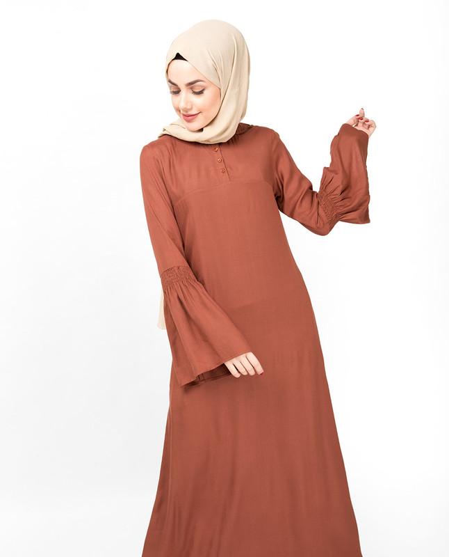 Flared Bell Sleeve Chutney Abaya